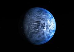 The Deep Blue Planet. Credit: ESA