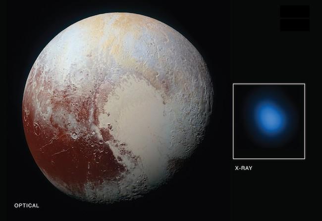Pluto in X-ray. credit: NASA
