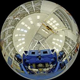 Interior view of the Gemini North Telescope