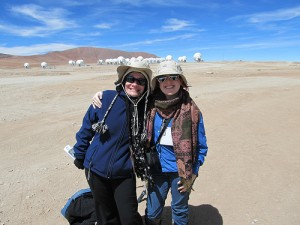 At ALMA with Tania Burchell of NRAO