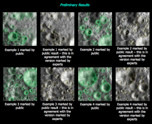 Comparison of Expert & CQ crater marks for Vesta