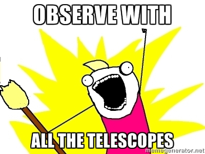 OBSERVE WITH ALL THE TELESCOPES meme