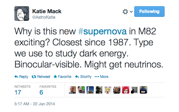 Tweet from Katie Mack. See transcription below.