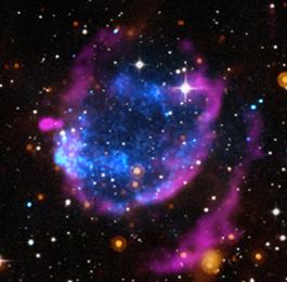 Credits: NASA/CXC/Morehead State Univ/T.Pannuti et al.; DSS; NASA/JPL-Caltech; NRAO/VLA/IAR/G.Dubner