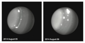 Credit: Imke de Pater (UC Berkeley), Pat Fry (University of Wisconsin), Keck Observatory