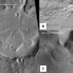 Examples of fan delta deposits on Mars, formed in enclosed impact crater or rift basins.