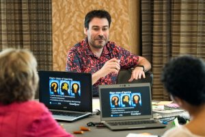 San Diego, CA - AAS 2016 - Jacob Noel-Storr and attendees during the Impacting Broader Audiences with your Research at the American Astronomical Society's 228th meeting. Photo by Michael Owen Baker, © 2016 American Astronomical Society.