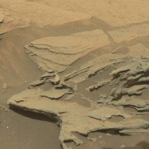 "A Martian ""spoon"", actually a tiny natural rock formation, shaped by geological forces. [Credit: NASA/JPL-Caltech/MSSS]"