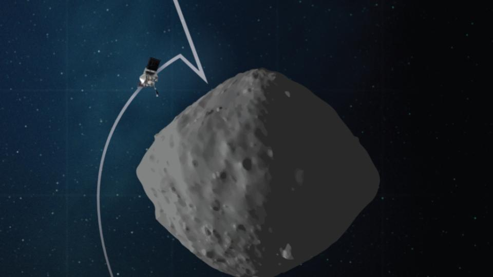 OSIRIS-REx spacecraft rehearses touching down on asteroid Bennu, deep sea vents could have kick-started life, and star orbiting the supermassive black hole moves as predicted by relativity, plus interview with astronomer Riley Connors