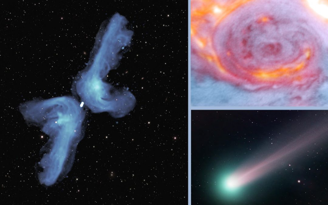 X-Shaped Radio Galaxies; All-Color Jupiter; & Comet SWAN Shines