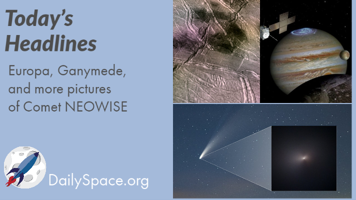 Europa, Ganymede, and more pictures of Comet NEOWISE