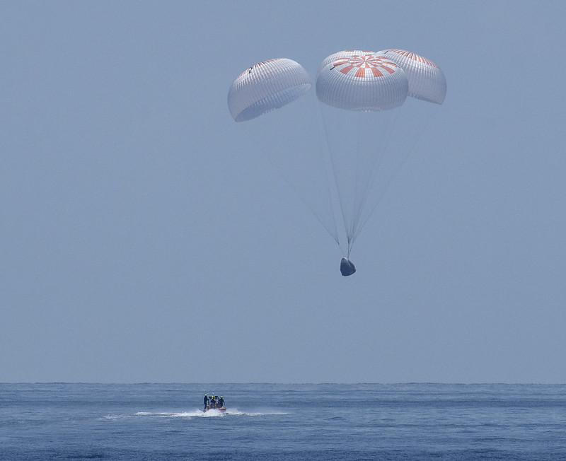 NASA Astronauts Safely Splash Down after First Commercial Crew Flight to Space Station