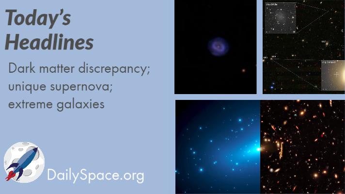 Dark matter discrepancy; unique supernova; extreme galaxies