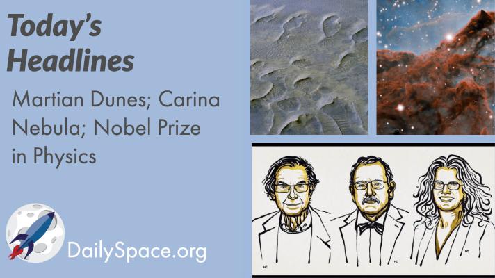 Martian Dunes; Carina Nebula; Nobel Prize in Physics