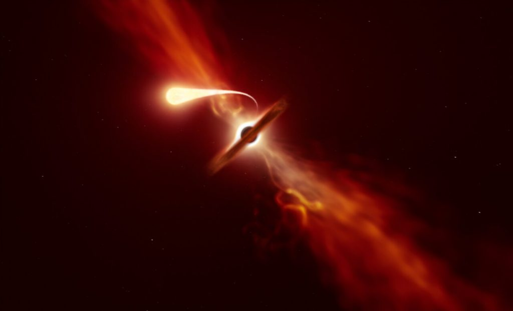 Star Dies by Black Hole Spaghettification