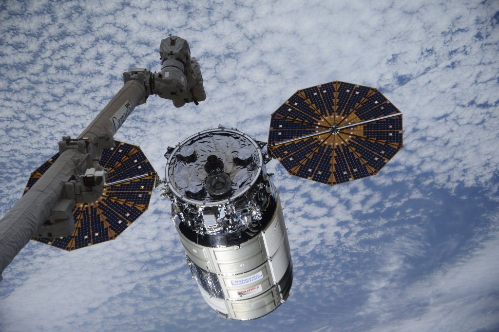 Cygnus supply ship reaches space station with titanium toilet