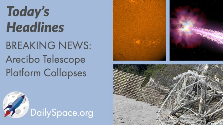 BREAKING NEWS – Arecibo Telescope Platform Collapses