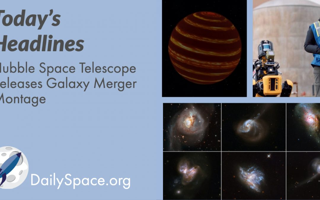 Hubble Space Telescope Releases Galaxy Merger Montage