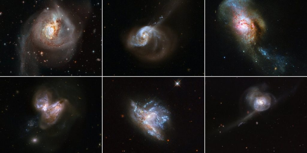 Hubble Releases Galaxy Merger Montage