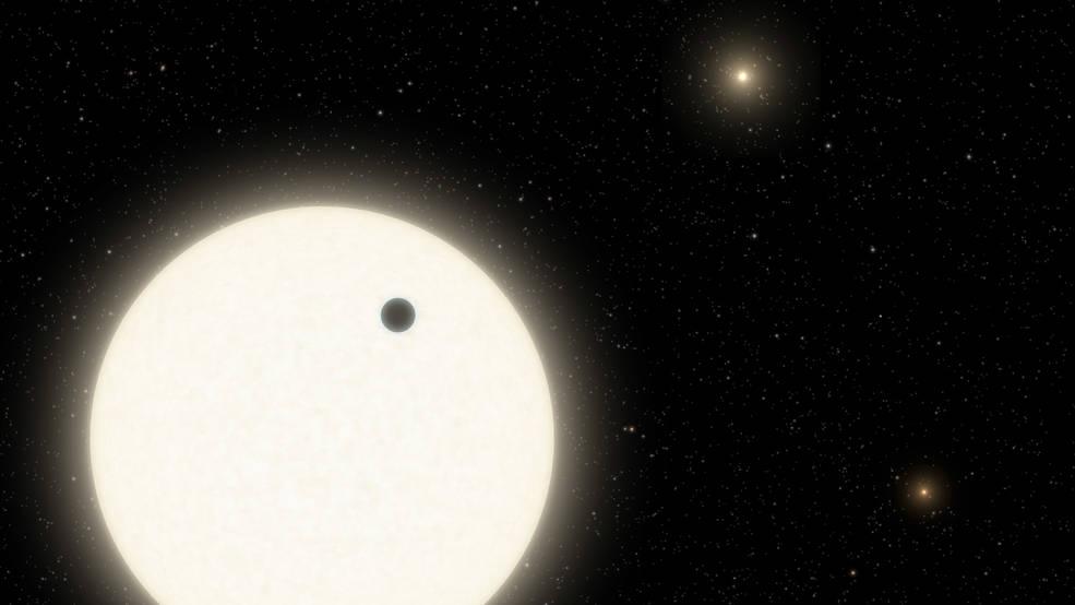 Forgotten Kepler Planet Candidate Orbits Triple-Star System
