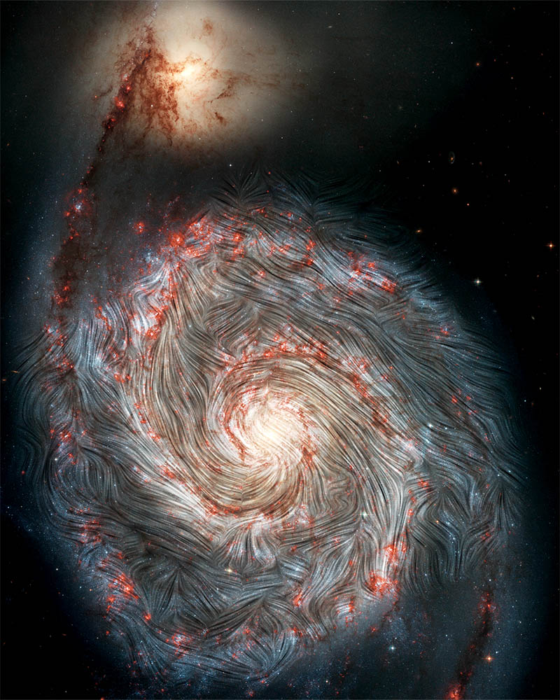 Chaos in the Grand Spiral Whirlpool Galaxy