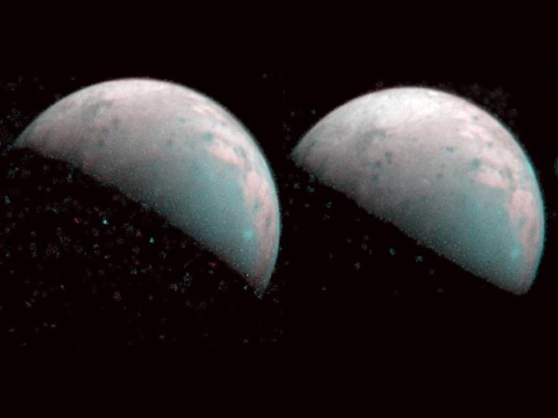 Juno Maps Water Ice at Northern Pole of Ganymede