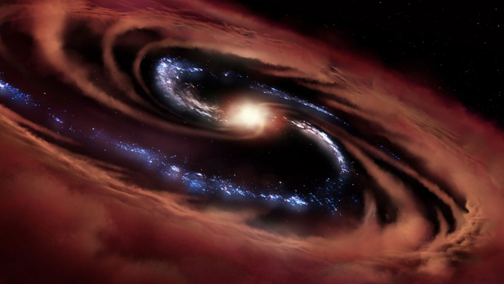 Cold Quasar Defines New Stage in Galaxy Evolution