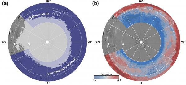 Water Ice Resources Identified in Martian Northern Hemisphere