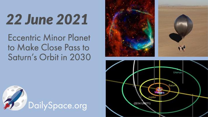 Eccentric Minor Planet to Make Close Pass to Saturn's Orbit in 2030