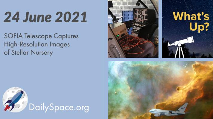 SOFIA Telescope Captures High-Resolution Images of Stellar Nursery