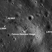 Annotated Apollo 15 Landing Site
