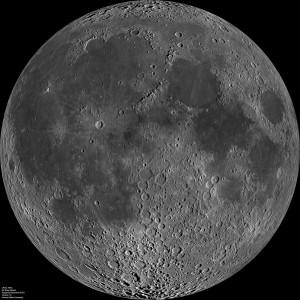 LROC WAC image of the Moon. Credit: NASA/LRO