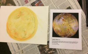 """An example of the """"Art in the Cosmic Connection"""" project, conducted at GIFT workshop. Credit: Maya Bakerman"""