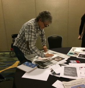 One of the local teachers participating in the GIFT workshop at AGU 2016 Fall Meeting. Credit: Maya Bakerman.