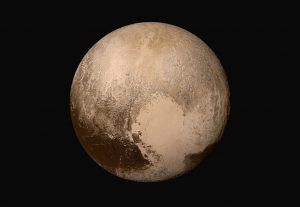 Pluto, the most famous Kuiper belt object, and the topic of one of our new CosmoAcademy classes. [Credit: NASA/JHUAPL/SwRI]
